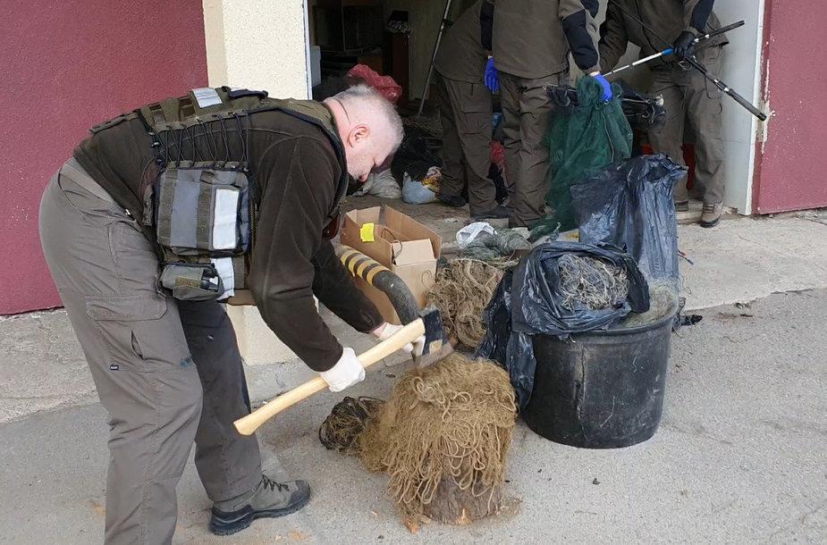 Įrankių naikinimo akciją Panevėžyje