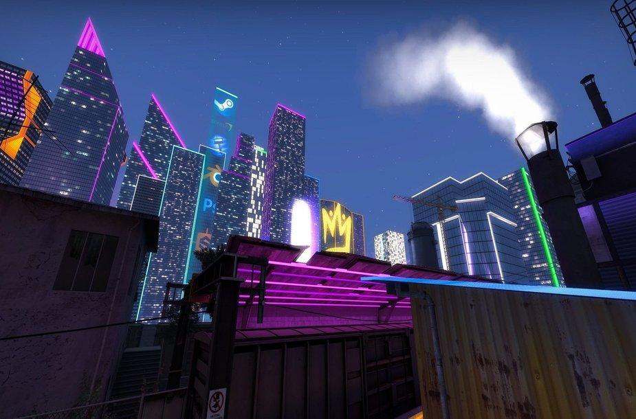 """Train žemėlapio """"Cyberpunk 2077"""" versija"""