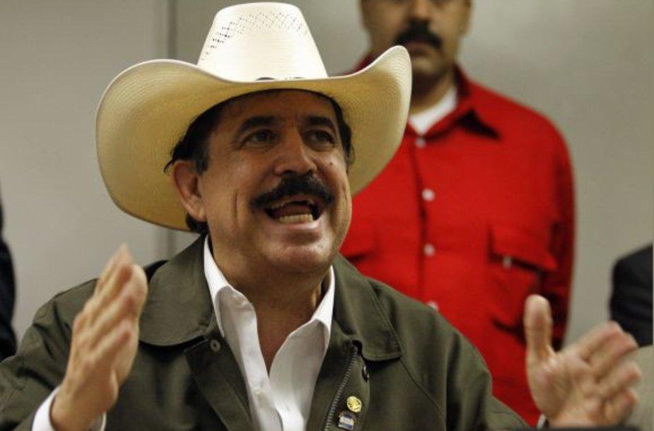 Nušalintasis Hondūro prezidentas Manuelis Zelaya