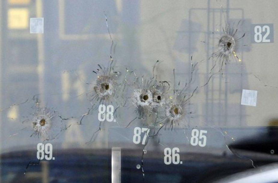 Sušaudytas langas, policija