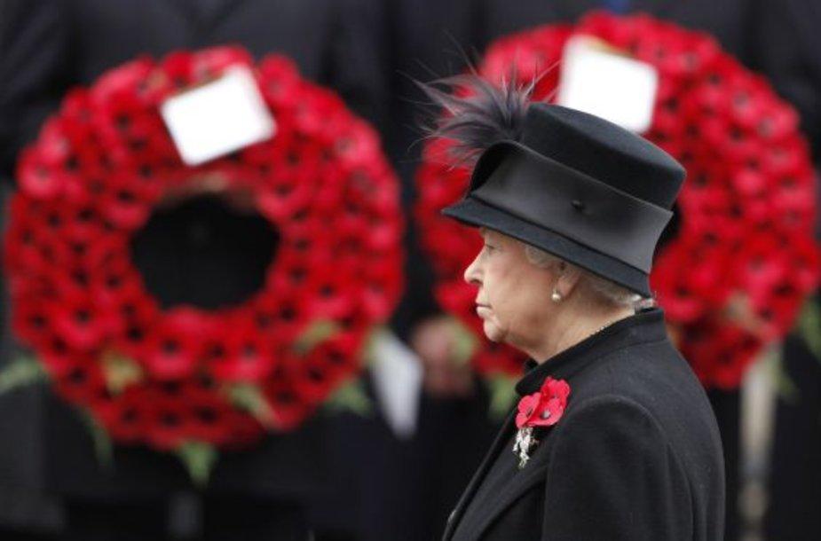 Karalienė Elizabeth atminimo ceremonijoje