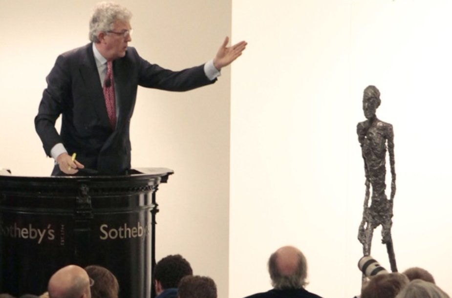 Šveicarų menininko Alberto Giacometti skuptūra