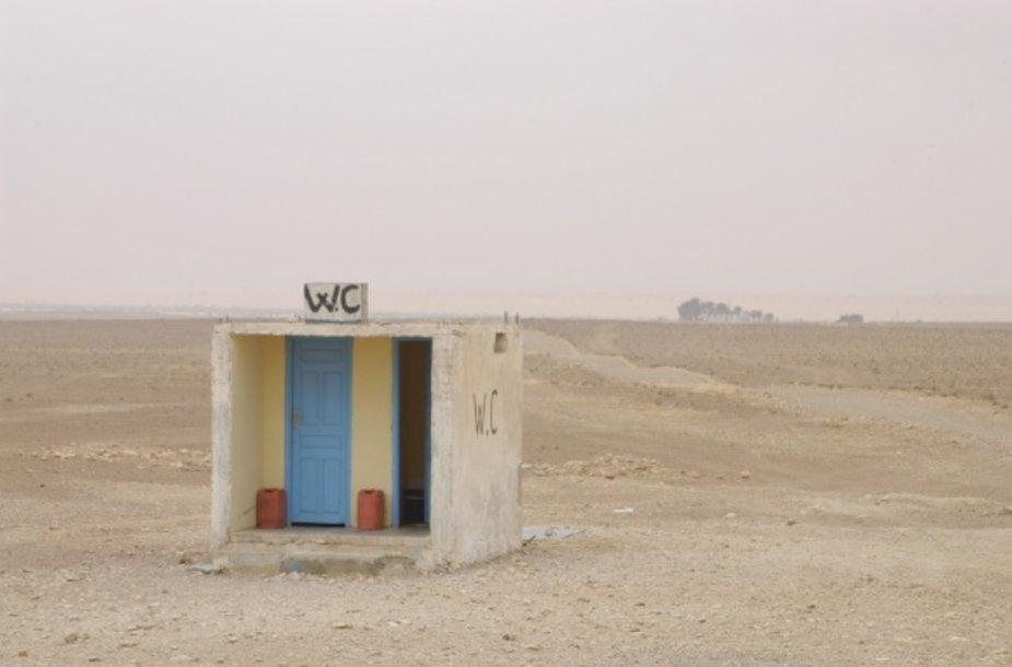 Tualetas dykumos viduryje...