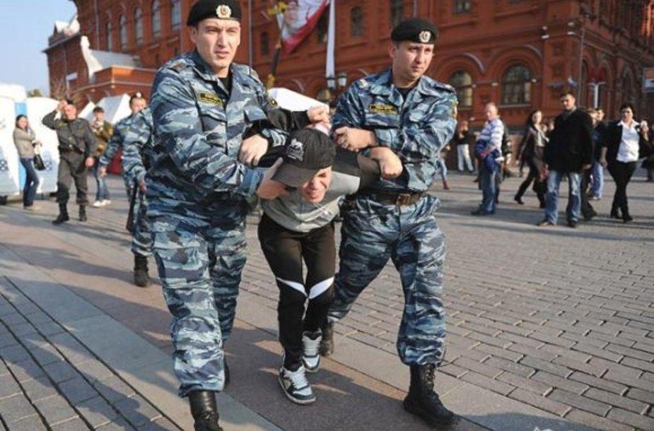 Maskvos Maniežo aikštėje suimti fanatai