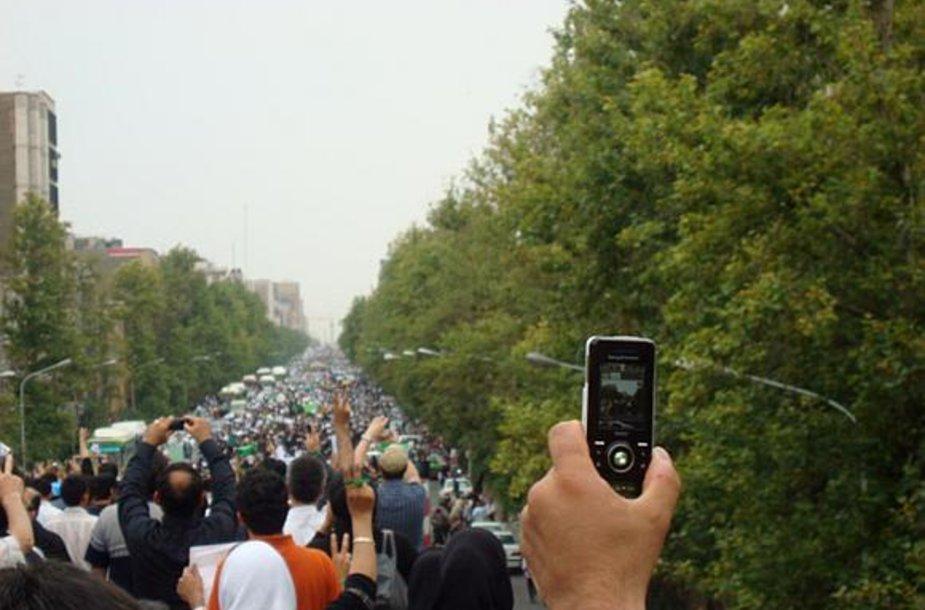 Irane tęsiasi protesto akcijos