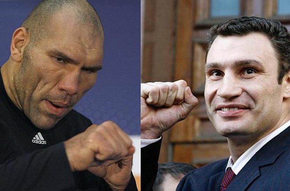 Nikolajus Valujevas ir Vitalijus Kličko greičiausiai susirems ringe.