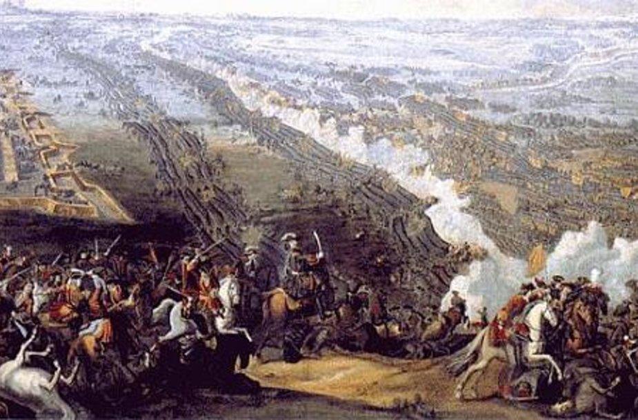 "Deniso Martenso jaunesniojo paveikslas ""Poltavos mūšis"" (1726 m.)"