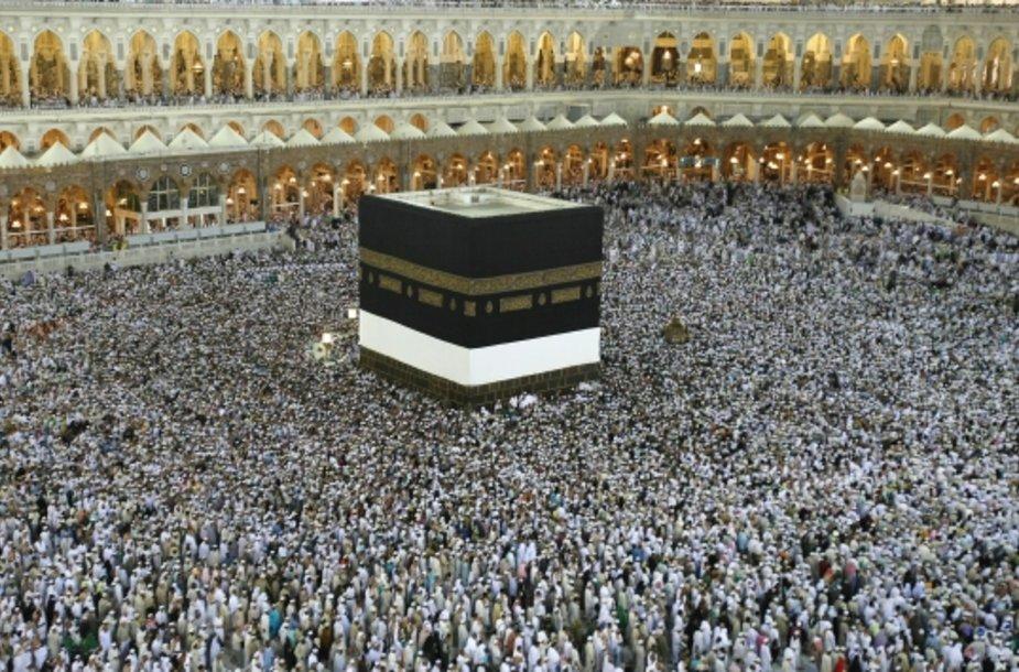 Musulmonai maldininkai Mekoje