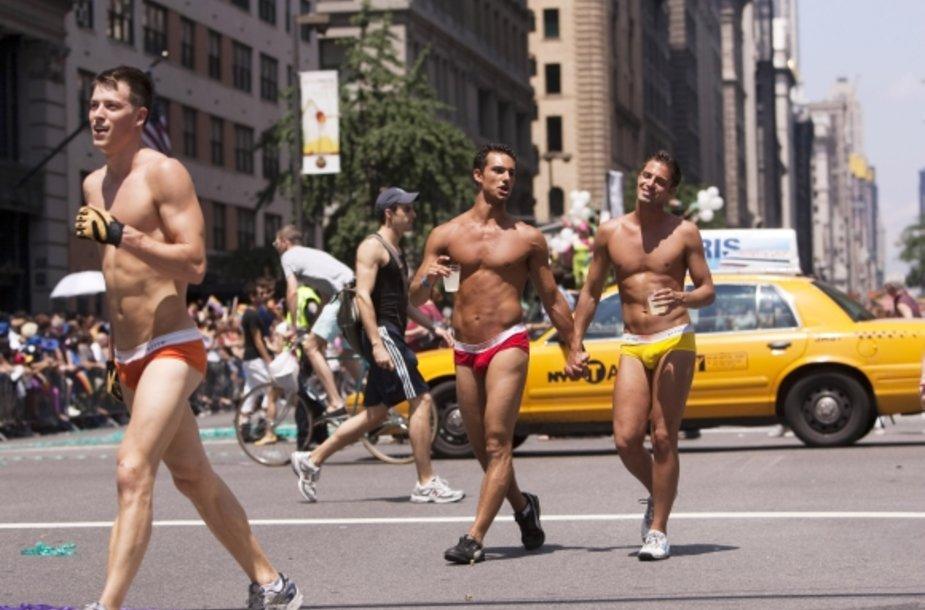 Niujorko gėjų parado akimirka