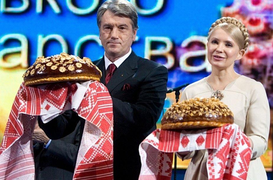 Viktoras Juščenka ir Julija Tymošenko