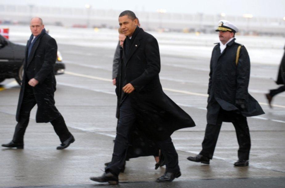 Į Kopenhagą penktadienio rytą atvyko ir Barackas Obama.