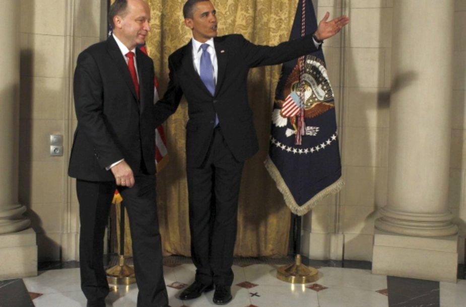 Andrius Kubilius ir Barackas Obama
