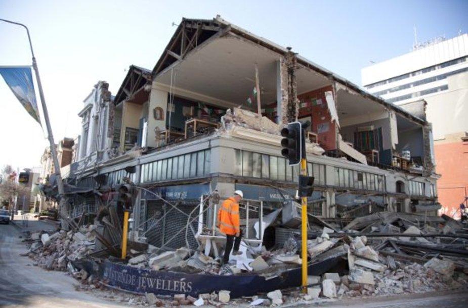 Žemės drebėjimas smarkiai apgadino daugelį Kraistčerčo pastatų.