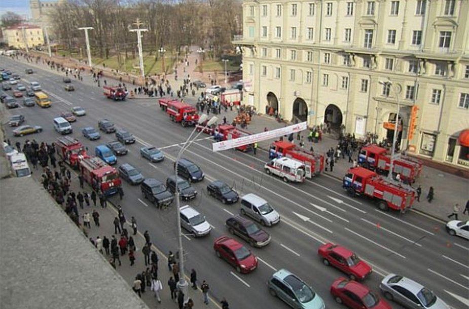 "Minsko metro stotis ""Oktiabrskaja"", nekentėjusi nuo sprogimo"