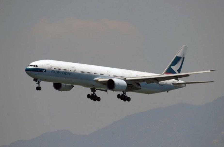 """""""Cathay Pacific"""" lėktuvas"""