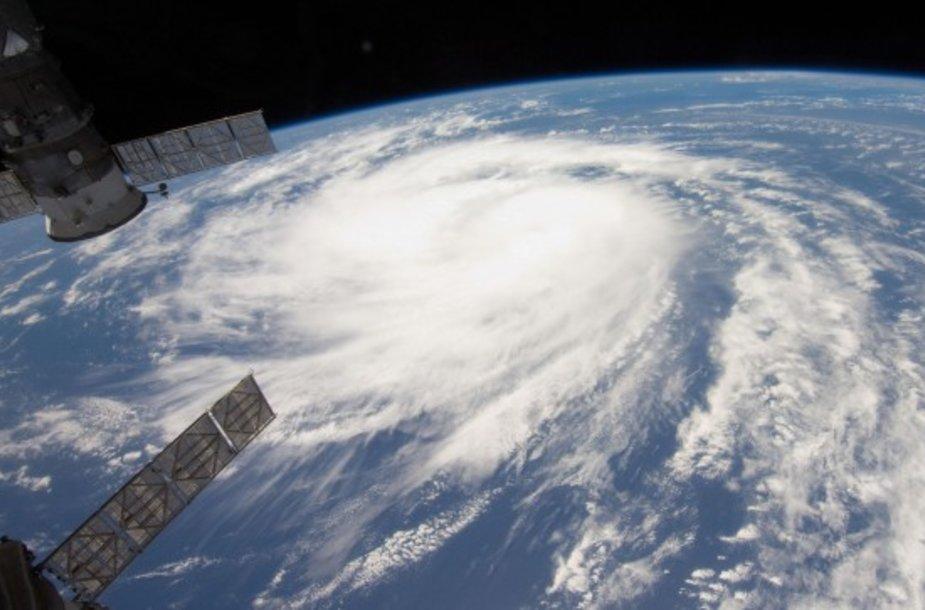 Uraganas Katia, matomas iš Tarptautinės kosminės stoties