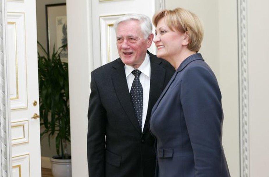 R.Budbergytė ir V.Adamkus