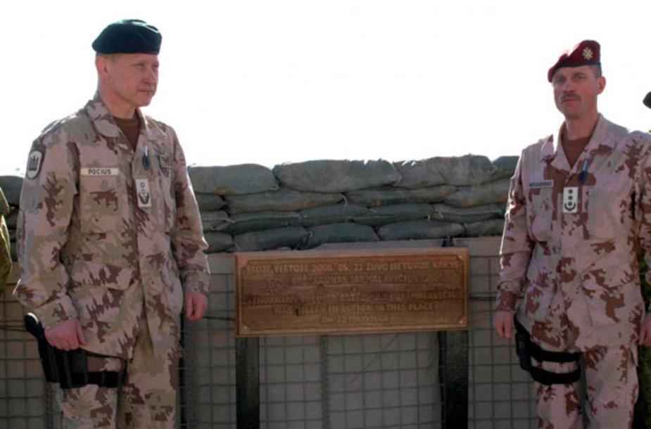 Afganistane įamžintas žuvusio seržanto atminimas