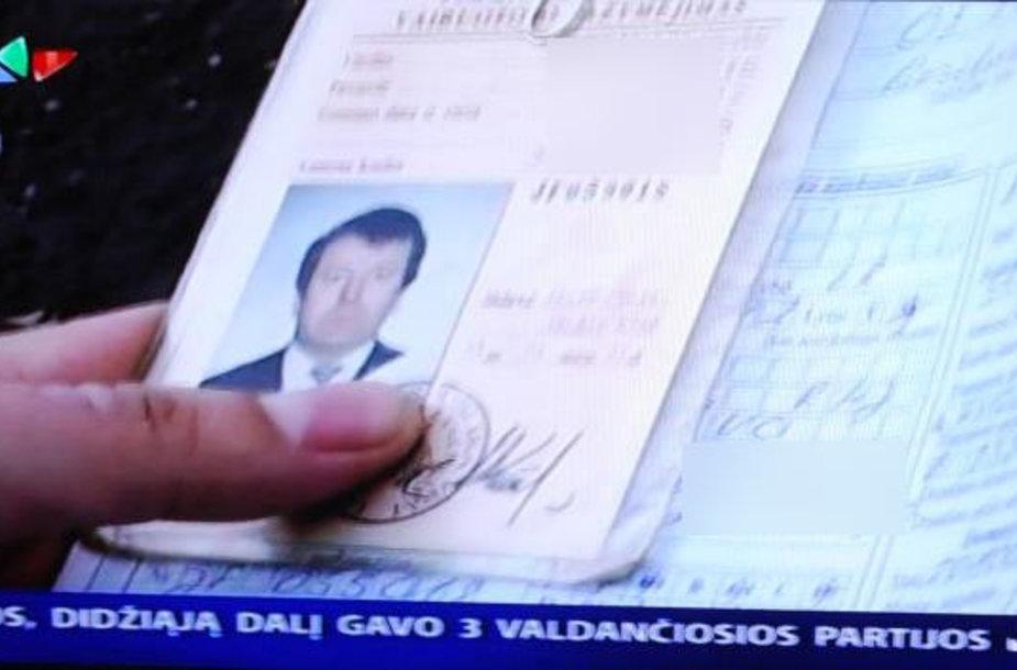 Klebono Stanislovo Anužio dokumentai policijos rankose