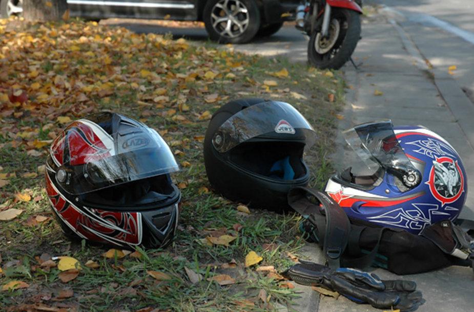 Motociklininkų šalmai