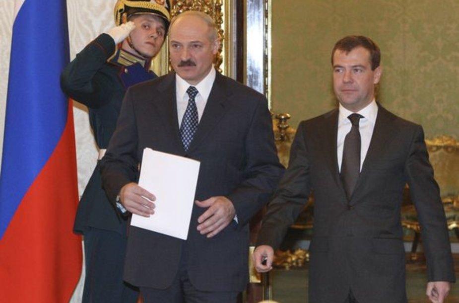 A.Lukašenka ir D.Medvedevas