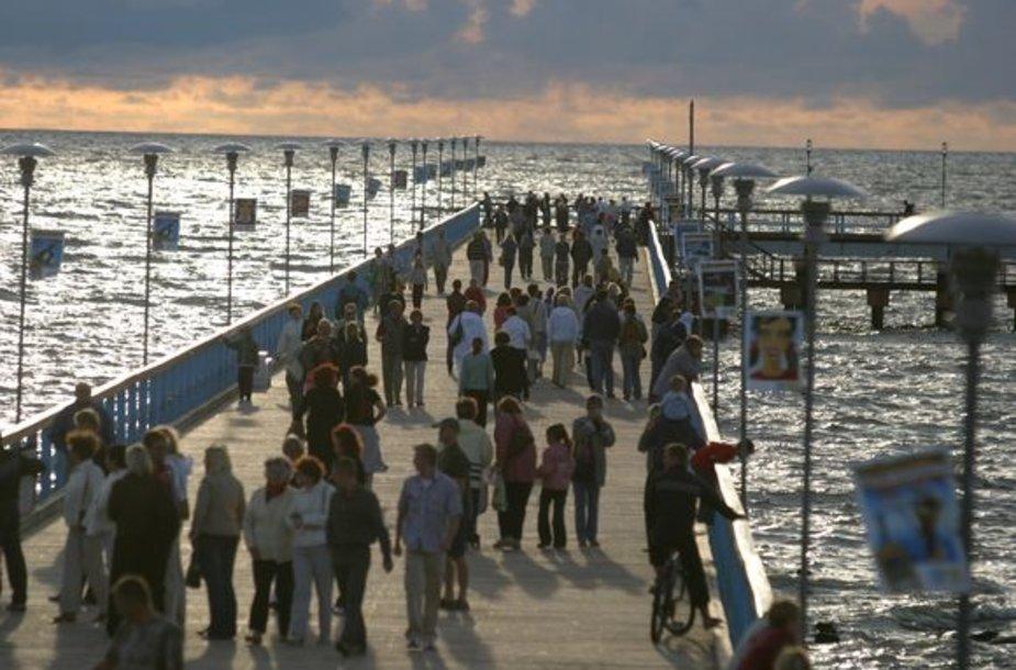 Pajūryje Žolinės savaitgalį laukiamas poilsiautojų antplūdis.