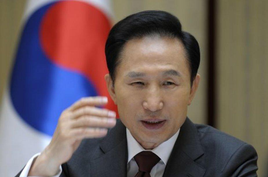 Pietų Korėjos prezidentas Lee Myung-bakas