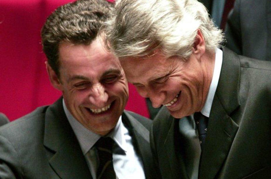 Dominique'as de Villepinas ir Nicolas Sarkozy