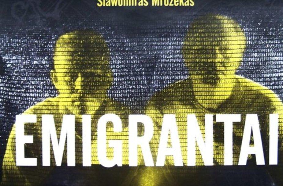 "Spektaklio ""Emigrantai"" afiša"