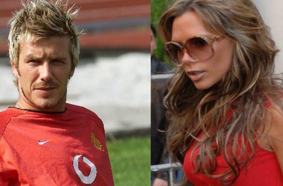 Davidas ir Victoria Beckhamai.