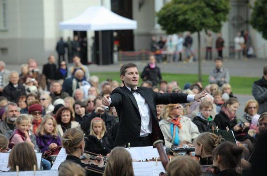 Koncertas Prezidentūros vidiniame kieme