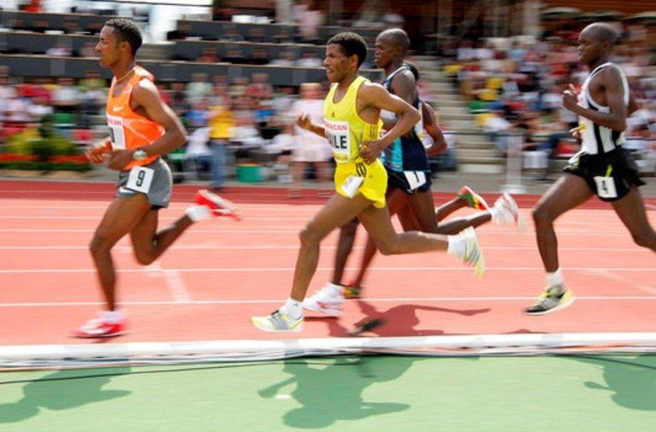 Haile Gebreselassie pagerinti pasaulio rekordo nepavyko