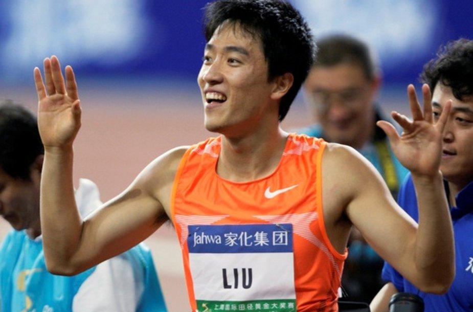 Liu Xiang į bėgimo takelį grižo po 13 mėnesių pertraukos