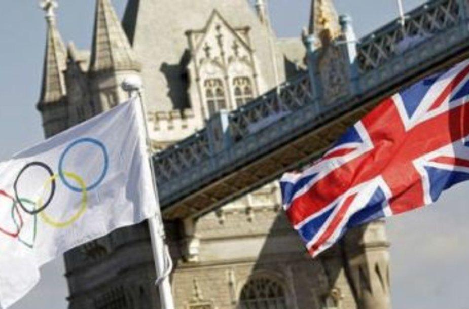 Londono olimpiados organizatoriai taupo