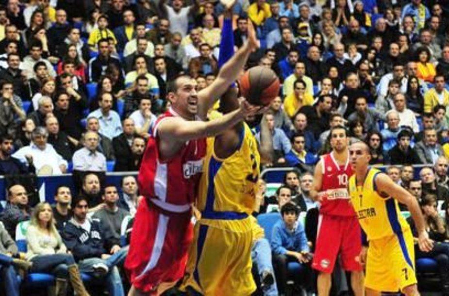 Nikola Vujčičius Tel Avive žaidė prieš savo buvusį klubą