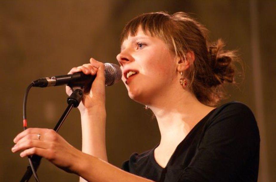 Pirmoji S. Mykolaičio vardo premijos laureatė Ieva Narkutė