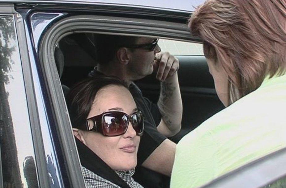 Džordana Butkutė naujo draugo taksi automobilyje