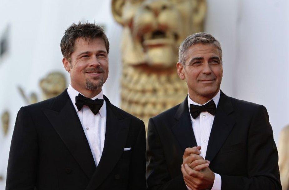 Venecijos kino festivalio atidaryme George'as Clooney and Bradas Pittas