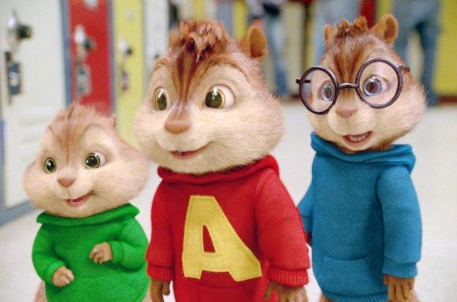 """Filmas """"Alvinas ir burundukai 2"""""""