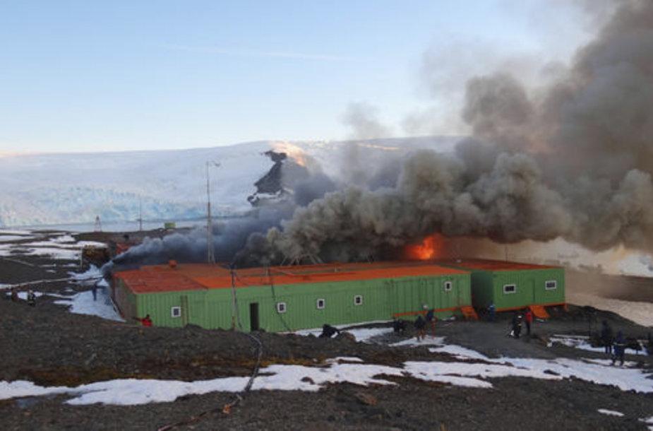Sprogimas Brazilijos bazėje Antarktidoje