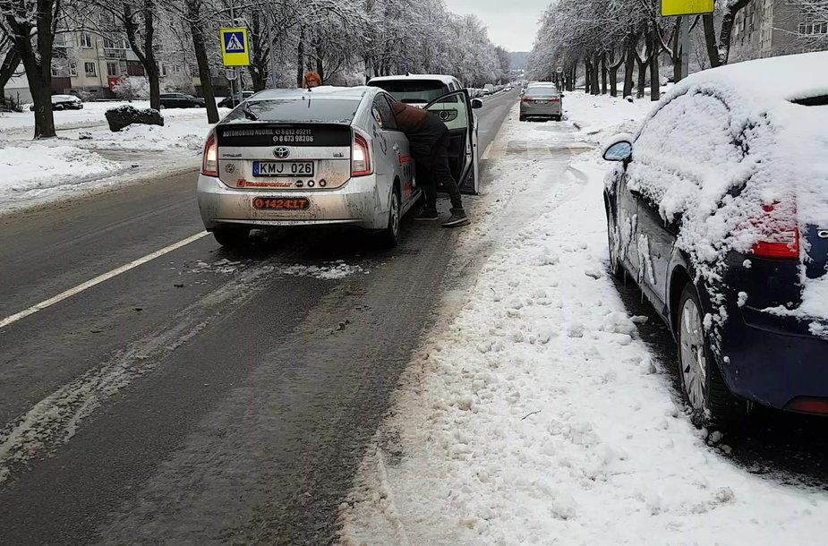 Avarija Vilniaus Minties gatvėje