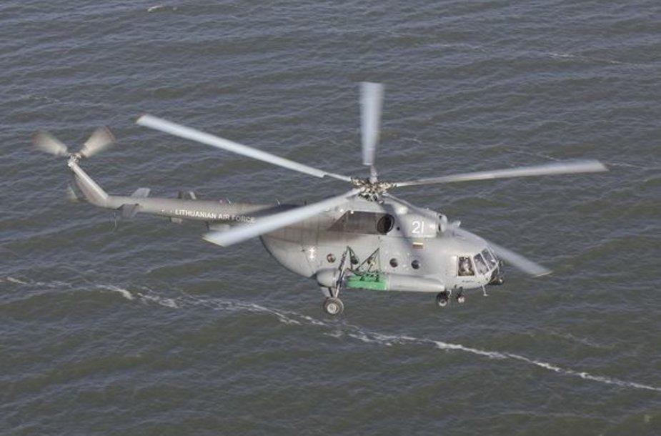Karinių oro pajėgų karių sraigtasparnis