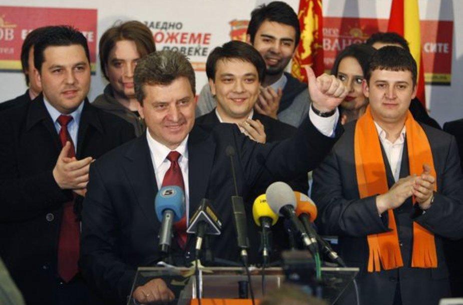 Premjero Nikolos Grujevskio konservatyvios partijos VMRO-DPMNE kandidatas į prezidentus Gjorgė Ivanovas