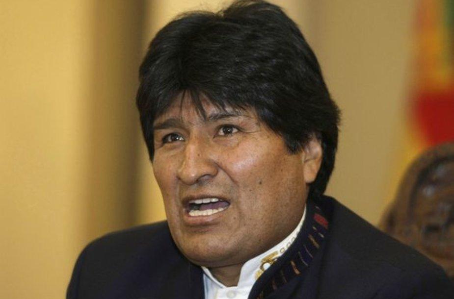 Bolivijos prezidentas Evo Moralesas pareiškė pradedantis bado streiką.