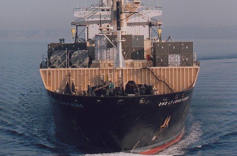 Lietuvoje – JAV karinio aprūpinimo laivas.