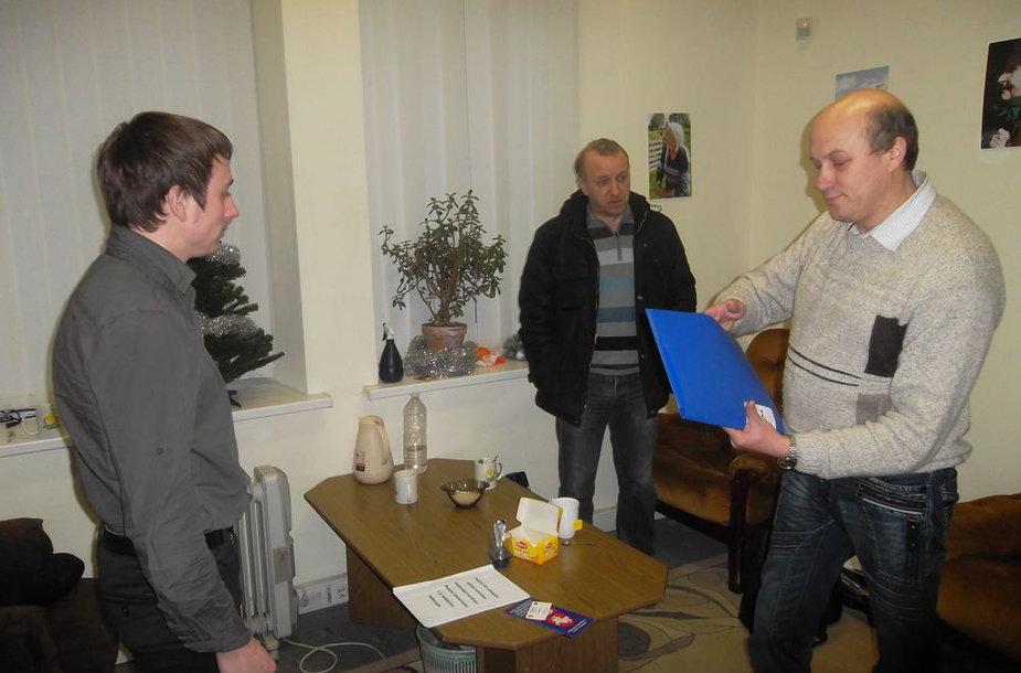 Susitikimas su S.Zacharčenka Baltarusijos pilietinėje ir politinėje  atstovybėje Vilniuje