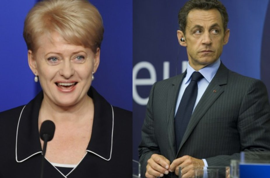 N.Sarkozy laukia D.Grybauskaitės.