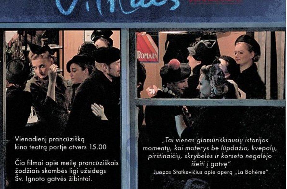 """Meilės dieną kino teatre """"Pasaka"""" romantiška programa """"Bohema. Paryžius. Vilnius"""""""