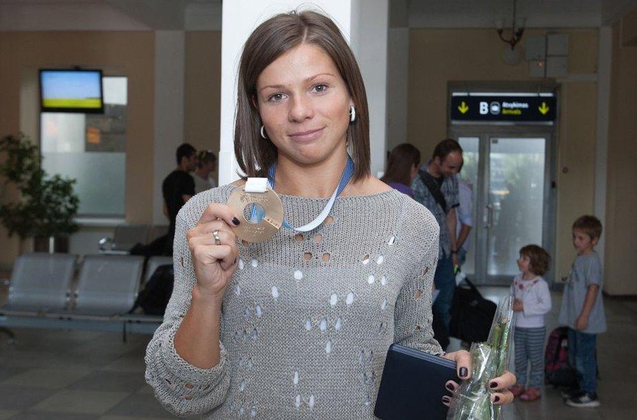 Šeštadienio popietę Lina Grinčikaitė grįžo į Vilnių