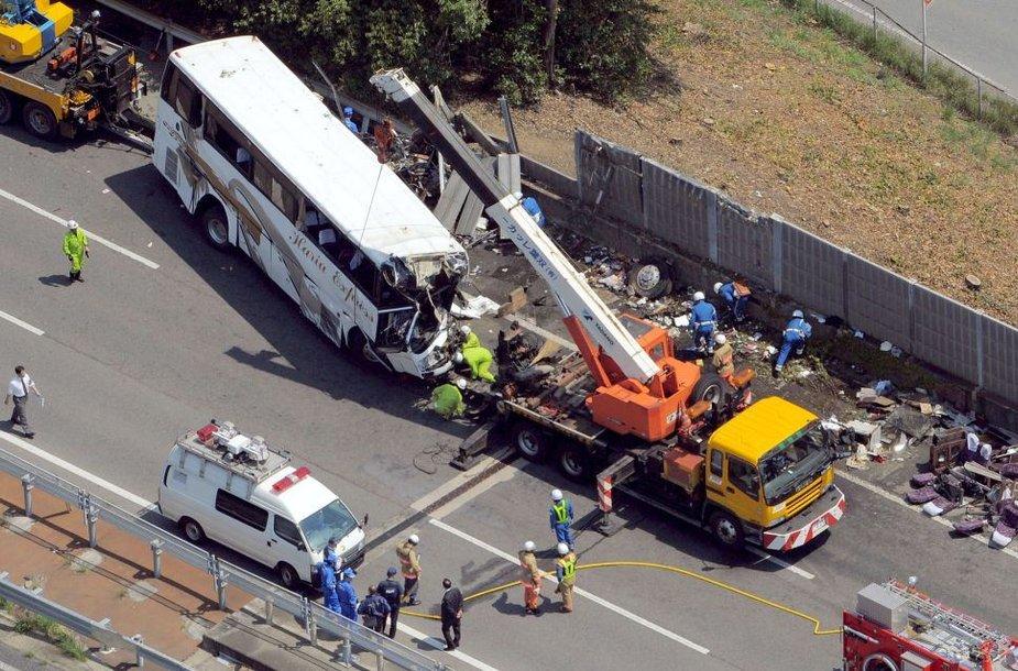Autobuso avarija netoli Tokijo
